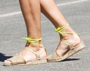 Jute espadrilles sandals. Alpargatas made in Spain.