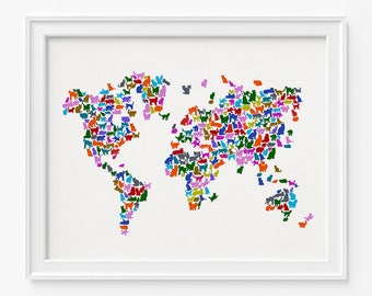 Cat world map etsy gumiabroncs Image collections