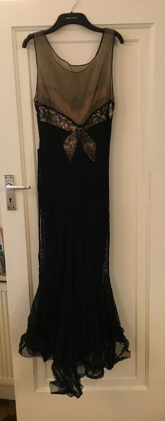 1930s Black Evening Gown - image 3