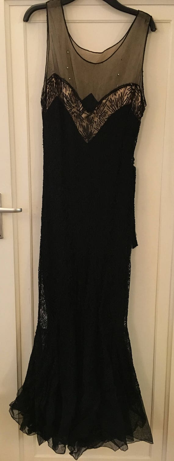1930s Black Evening Gown