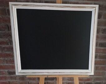 44a76784323 Large Ornate Vintage Distressed White Frame Blackboard Chalkboard Wedding  Event Restaurant Pub Christening - Seating Message Board