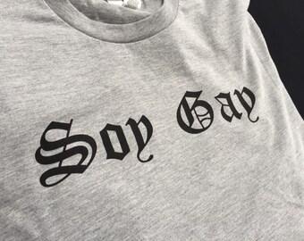 Soy Gay mens gay pride t shirt Gay Marriage Tshirt I Support Gay Marriage Tshirts for Gay Men Lesbian Tshirt Graphic Tees