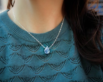 Thyroid Support Crystal Necklace Hormone Balance Gems Spiral Gem Necklace Gift for Her Under 50 Throat Chakra Jewelry
