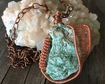 Copper Wire Wrapped Bohemian Necklace