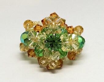 Swarovski Crystal Beaded Ring