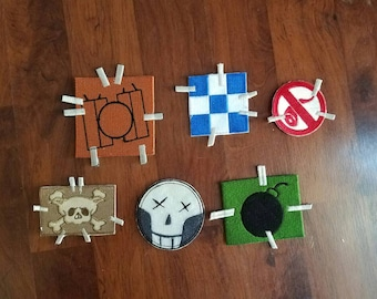 Junkrat Inspired Cosplay Patches