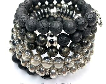 Wrap bracelet, bracelet, bracelet, pearl bracelet, charm bracelet, bracelet, memory bracelet, lava, bohemian, gypsy, gift, single piece
