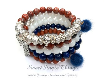 Wrap bracelet, bracelet, bracelet, pearl bracelet, bracelet, memory bracelet, bohemian, gypsy, gift, unique piece, birthday