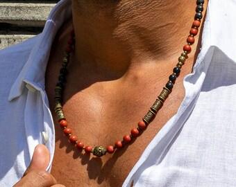 Men's Jewelry, Men's Necklace, Men's Necklace, Bohemian, Surfer Jewelry, Ethnic, Gypsy, Gift, Single Piece, necklace, Men's jewelry