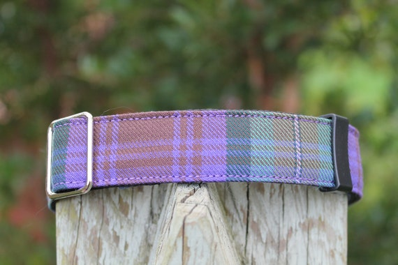 Edinburgh Scottish TartanPlaid Dog collar with ID tag /& personalised engraving Australia