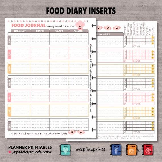 Food Allergy Intolerance IBS Diabetes Diary THP