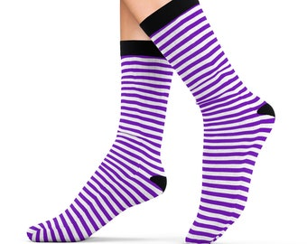 Lily The Fairy Purple Striped Socks