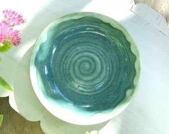 Seafoam Serving Bowl   Handmade Pottery