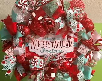 Christmas Wreath, Holiday Wreath, Merry Christmas Wreath