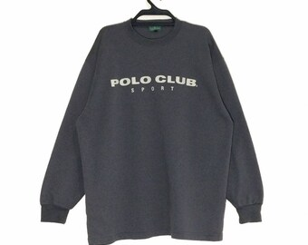 6c9fe556 Vintage POLO CLUB Sport spell out Sweatshirt Crewneck Pullover Jacket Rugby  Long Sleeve L size