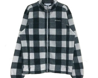 620c23d7347 Vintage COLUMBIA FLEECE Jacket Pullover Vtg Columbia Sportswear Company  Outdoor Zipper Jacket Sweater