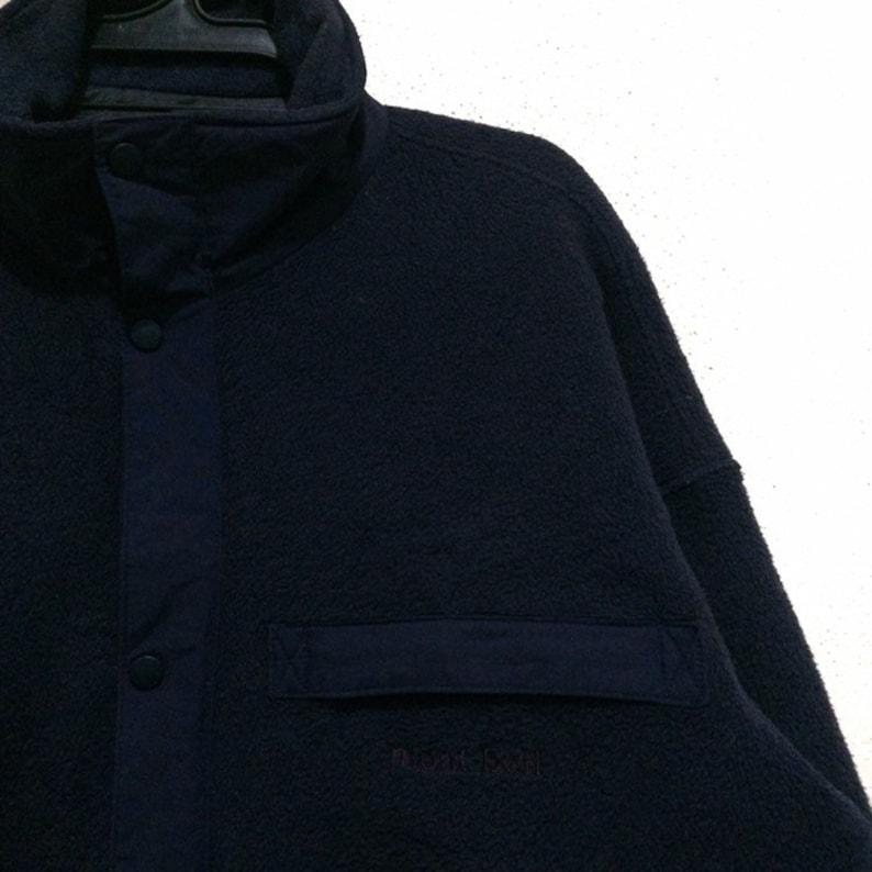 Rare!! Vintage Fleece Mont-bell Jacket Vtg Mont Bell Outdoor POLARTEC Sweater Jacket Hiking Ski Zipper Button Nice Clour