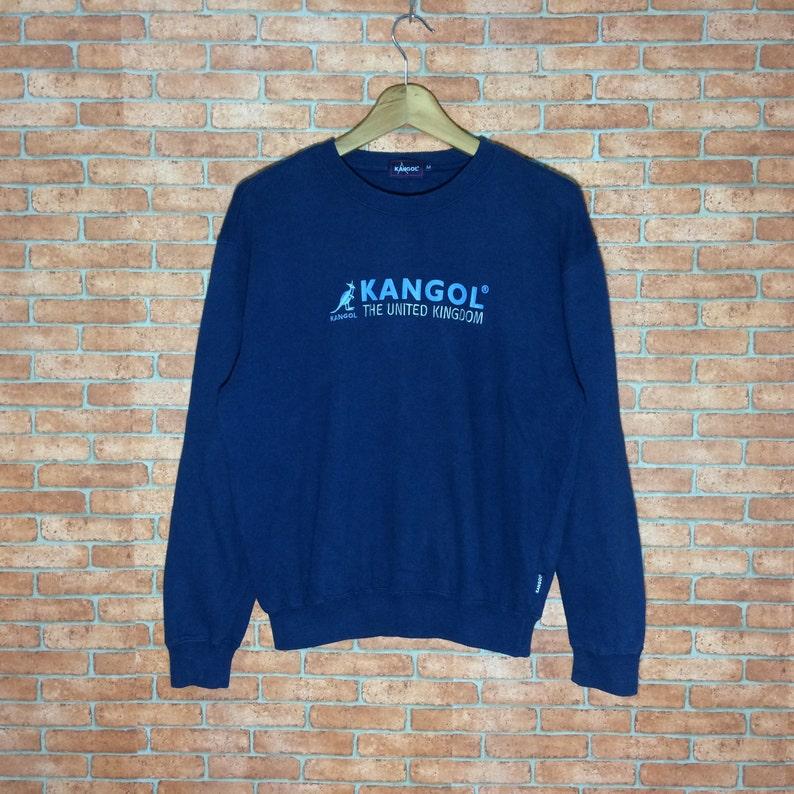 Rare!!! Vintage Kangol The united kingdom sweatshirt Big Logo crewneck  pullovers Kango size M jacket