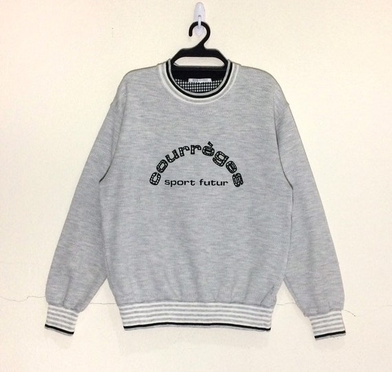 Rare!!! Vintage Courreges Paris Sweatshirt pullove
