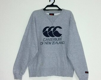 Rare!!! Vintage CANTERBURY of New Zealand Rugby Sweatshirt Crewneck Pullovers Vtg Canterbury Rugby sport New Zealand Jacket Size Small