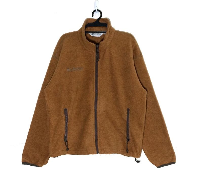 bfe4980396e Rare Vintage 90's COLUMBIA FLEECE Jacket Pullover Vtg   Etsy