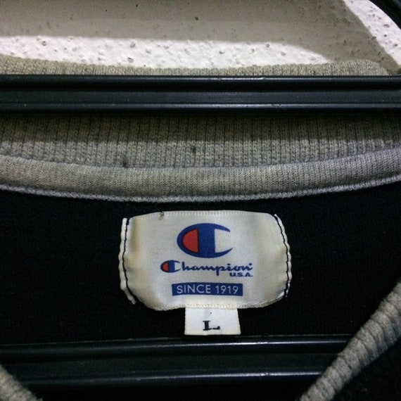 Rare!!! Vintage Champion Spellout Embroidery swea… - image 3