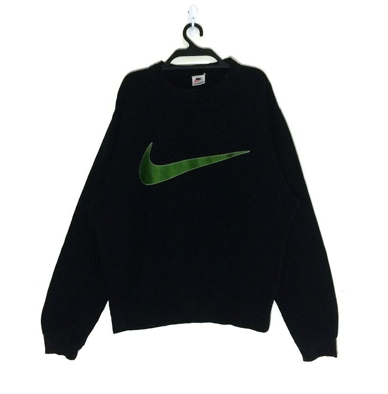 2bd3673d455 Rare Vintage Nike Big Swoosh Logo Embroidered Sweatshirt | Etsy
