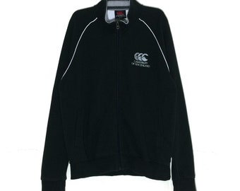 Rare!!! Vintage CANTERBURY of New Zealand Spellout Embroidery Jacket Zipper Vtg Canterbury Rugby New Zealand Jacket M L size