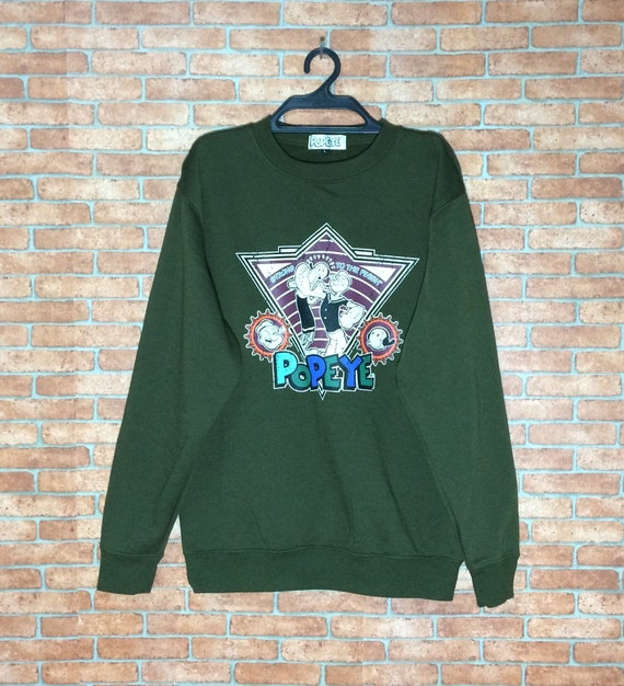 Rare!!! POPEYE and OLIVE Cartoon Sweatshirt Crewne