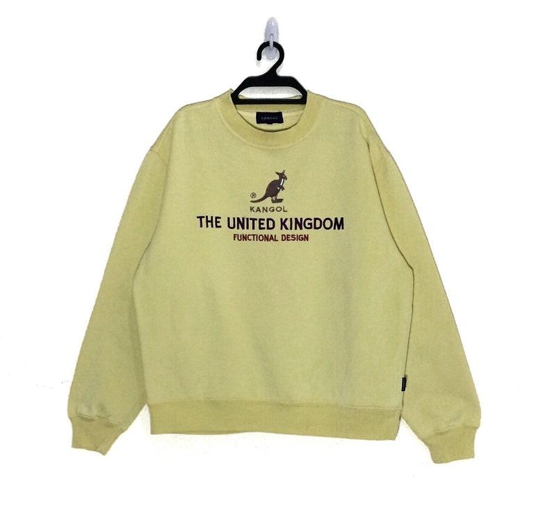 Rare!!! Vintage KANGOL The united kingdom sweatshirt Big Logo Embroidered  crewneck pullovers Vtg Spell Out Kango size M jacket Sweater