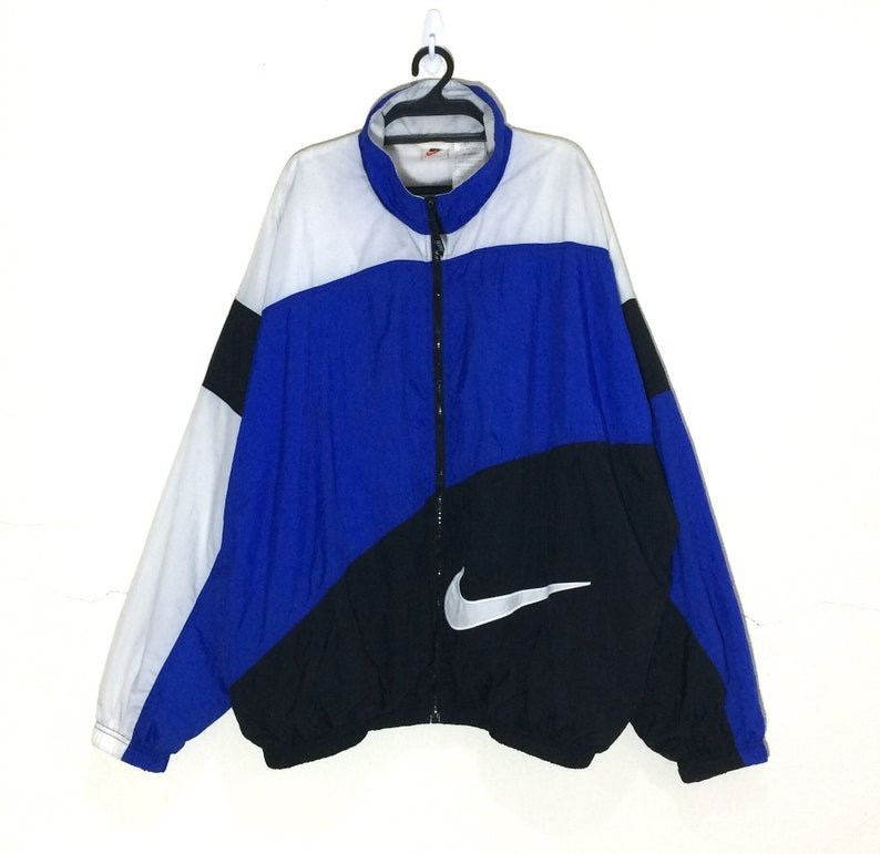 91df464a757 Rare Vintage 90's Nike Big Swoosh Embroidery Jacket Vtg | Etsy