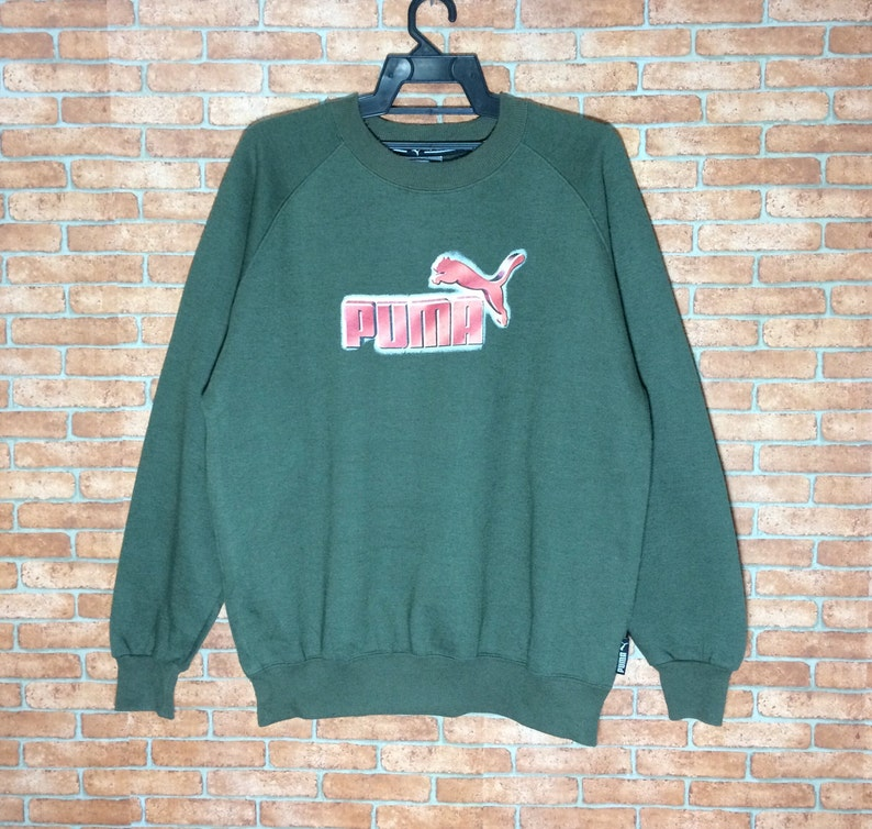 f0d38e1f0fd Rare Vintage Puma Sweatshirt Big Logo Vtg Puma Original | Etsy