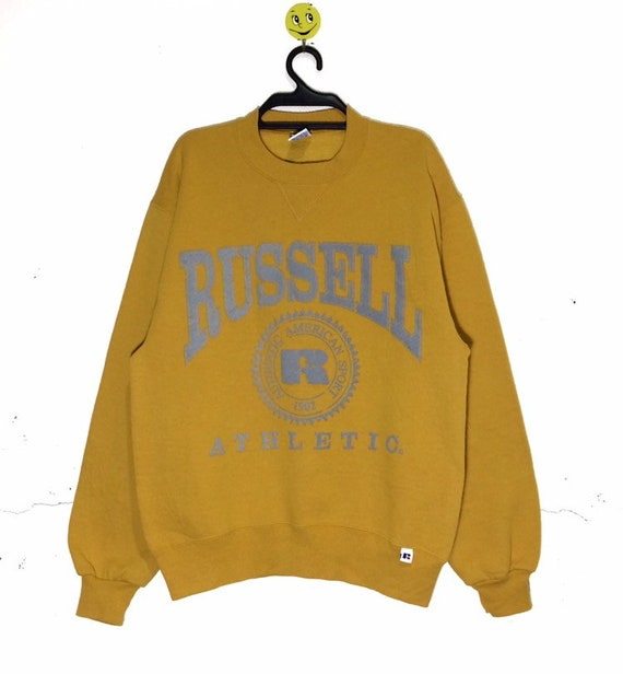 Rare!!! Vintage 80's RUSSELL spellout Big Logo Swe