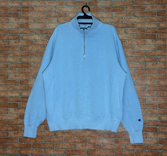 light blue champion hoodie