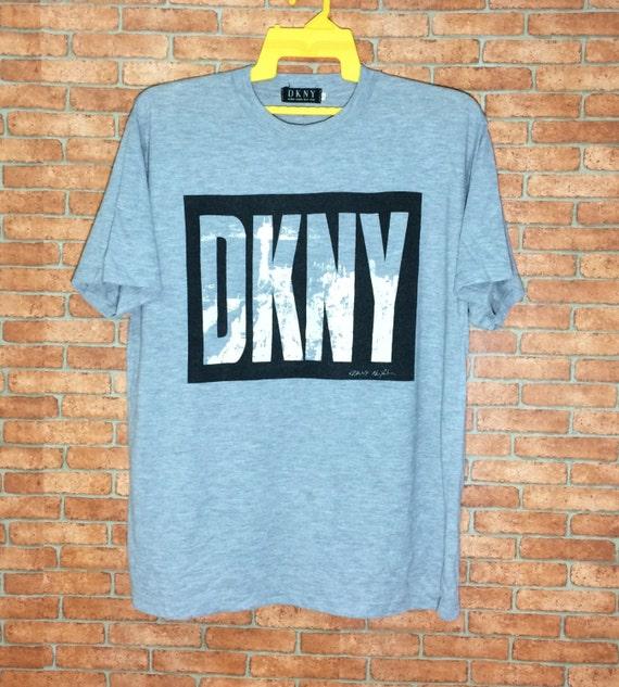 Rare Donna Karan New York T shirt Big Box Logos DKNY new  bf7f8d0d17b