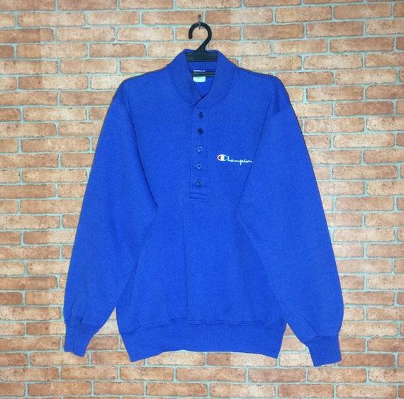 Rare!!! Vintage 70's Champion Blue Bar SpellOut Em