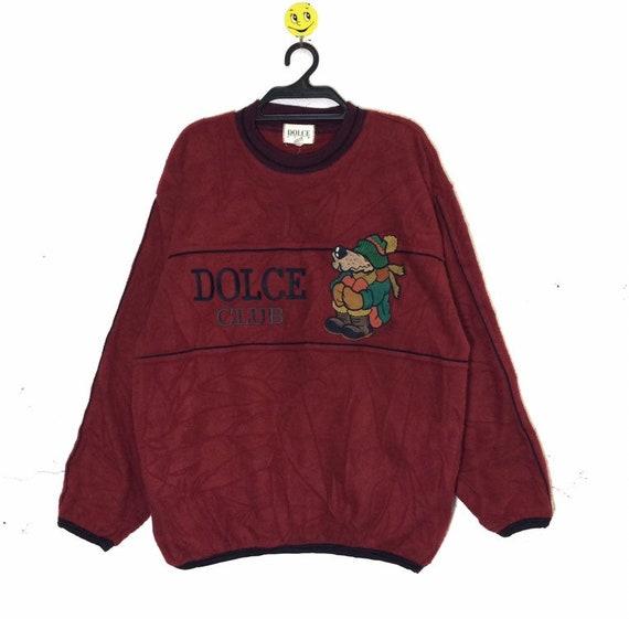 Rare!!! Vintage Fleece DOLCE Club Embroidery Big L