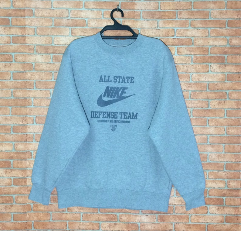a481cd29238e0 Rare!!! Vintage Nike All State Sweatshirt Vtg Nike Team Sport Spellout Big  Logo Pullover Crewneck Jacket M size