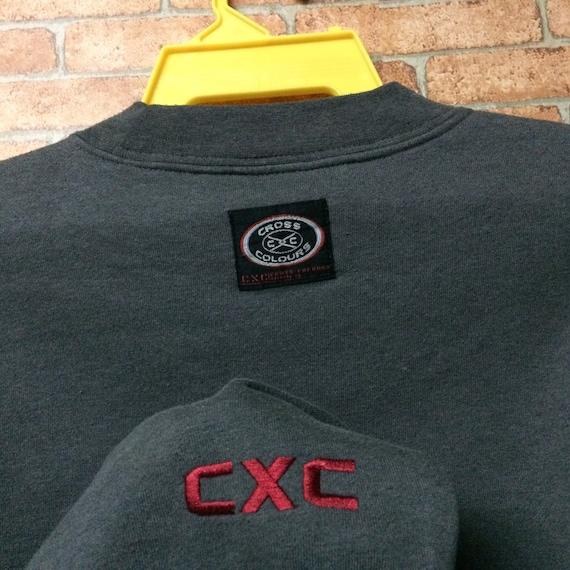 Rare!!! Cross Colours sweatshirt Pullover Crewnec… - image 4