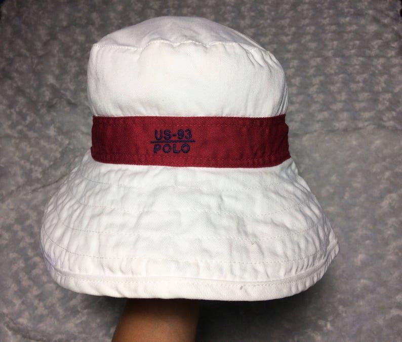 799509043c482 Rare Vintage 90 s POLO Ralph Lauren Bucket Hat Cap Vtg