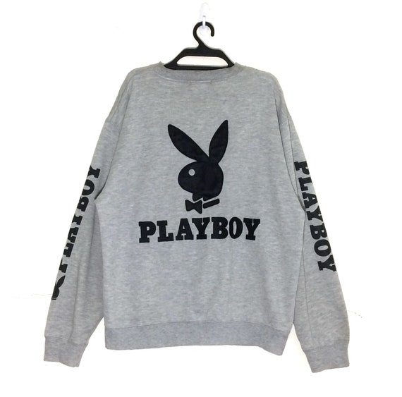 2c2fdf1aac346 Rare!!! Vintage PLAYBOY Spellout Big Logo Embroidery Sweatshirt Vtg Play  Boy Pullover Crewneck Jumper Jacket m L size Sweater