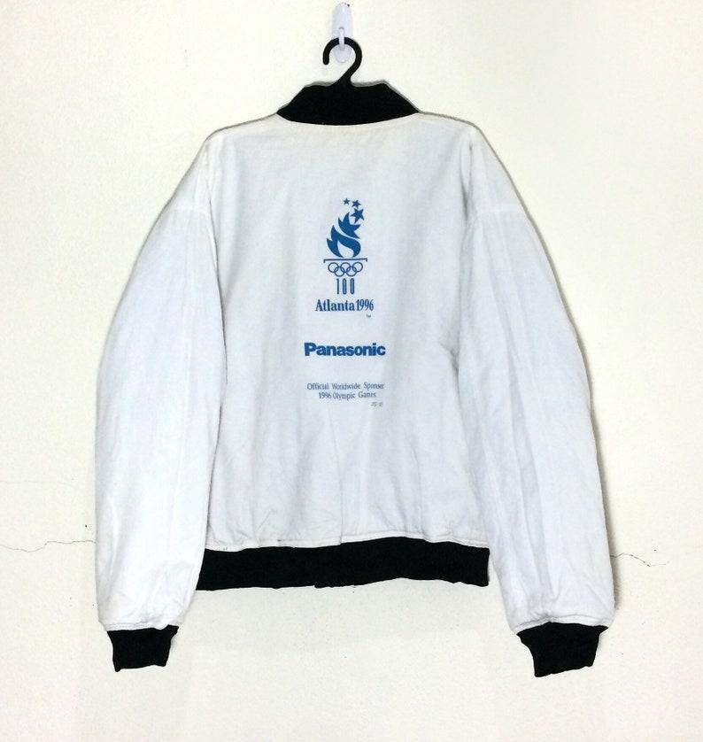 Rare!! Vintage ATLANTA Olympic 1996 Reversible Varsity Jacket Vtg Atlanta PANASONIC Olympic World Game Jacket