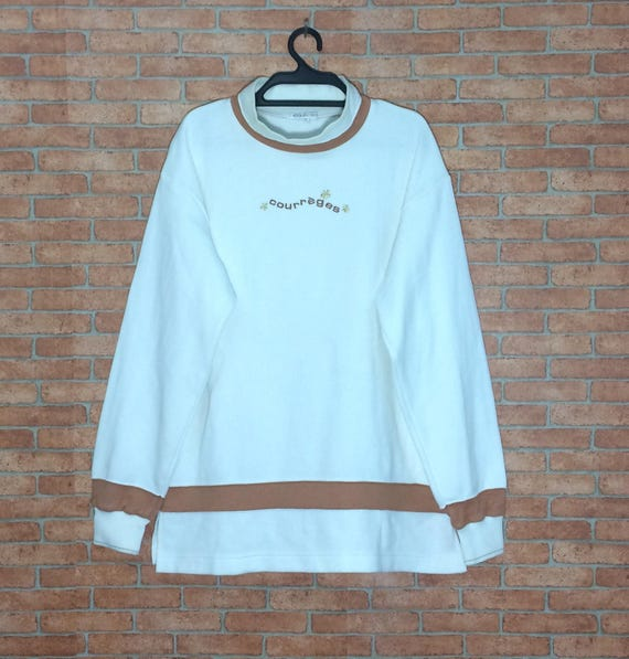 Rare!!! Vintage Courreges Sweatshirt Crewneck Vtg