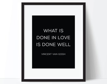 Love Quote Art, Love Print, Famous Quote Art, Vincent Van Gogh Quote, Famous Quote Print, Love Quote Poster, Love Quote Printable