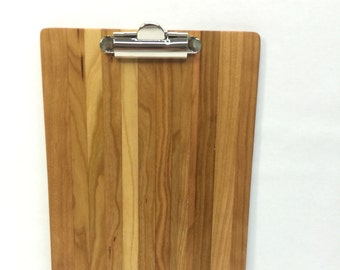 Wood Clipboard - Designer - Notepad size. Solid Wood  - Cherry (Free Shipping) Mod MS01