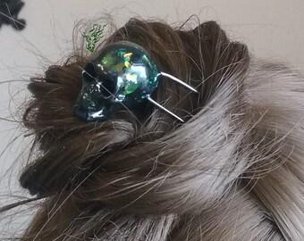 OOAK  Jugendstil art  nouveau mystical hair fork hand made design halloween resin hold long  carving shop sale holder