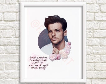 Sweet Creature Printable Art by Harry Styles featuring Louis Tomlinson -INSTANT DOWNLOAD