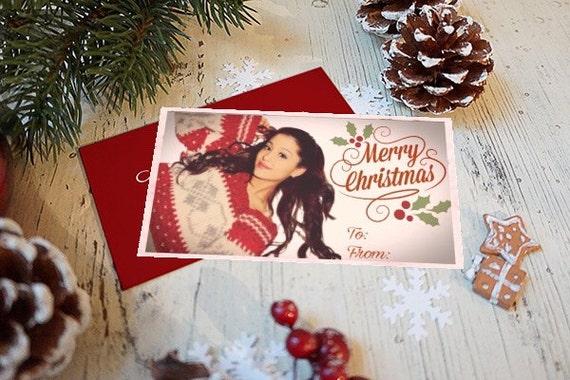 Ariana Grande Christmas.Ariana Grande Printable Christmas Gift Card Holiday Gift Card Greeting Card Instant Download