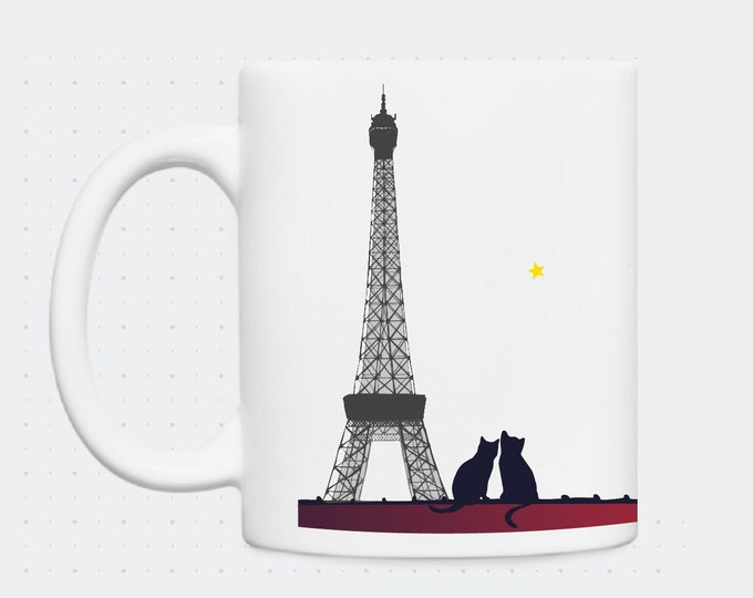 Mug Eiffel Tower & cats