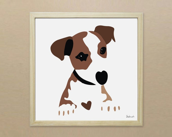 30x30 Jack Russel dog-to-animals poster didouch
